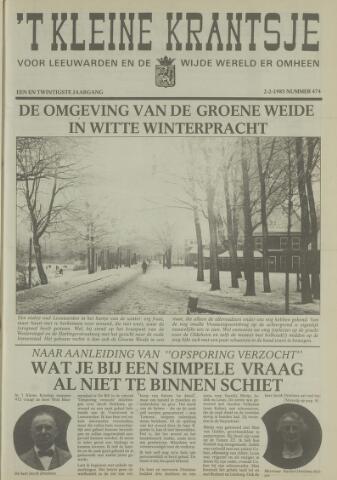 't Kleine Krantsje, 1964-1997 1985-02-02