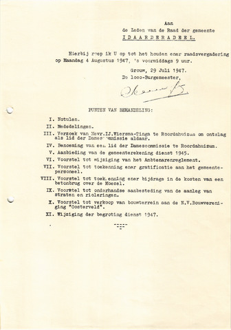 raadsverslagen Idaarderadeel 1935-1983 1947-08-04