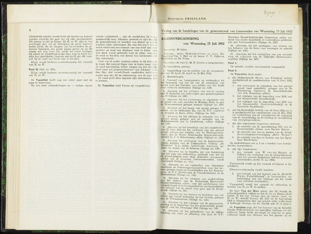 Raadsverslagen van de gemeente Leeuwarden, 1865-2007 (Notulen) 1952-07-23