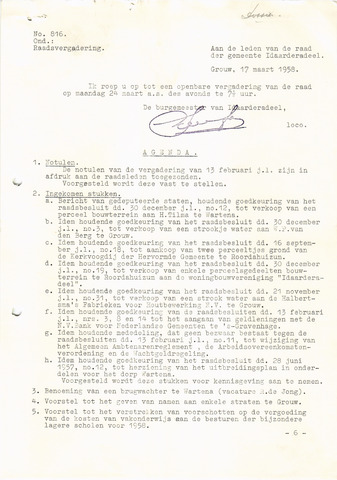 raadsverslagen Idaarderadeel 1935-1983 1958-03-24