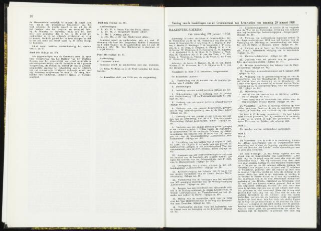 Raadsverslagen van de gemeente Leeuwarden, 1865-2007 (Notulen) 1968-01-29