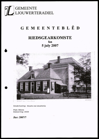 Notulen van de gemeenteraad van Leeuwarderadeel 2007-07-05
