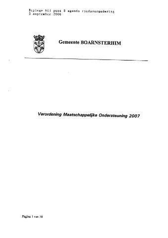 Boarnsterhim vergaderstukken gemeenteraad bijlagen 2006