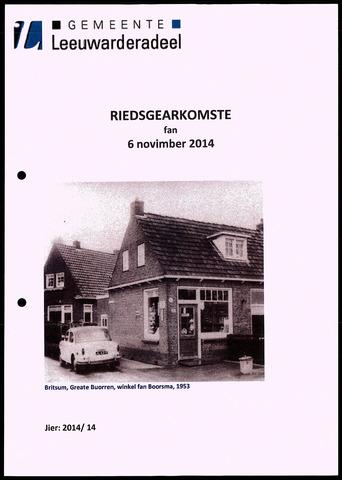 Notulen van de gemeenteraad van Leeuwarderadeel 2014-11-06