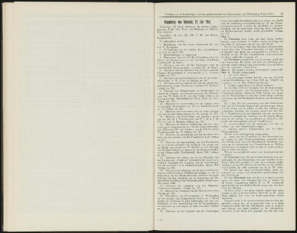 Raadsverslagen van de gemeente Leeuwarden, 1865-2007 (Notulen) 1941-06-25