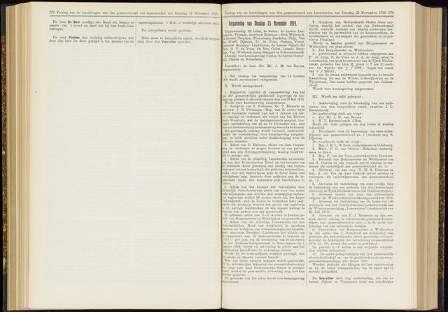 Raadsverslagen van de gemeente Leeuwarden, 1865-2007 (Notulen) 1919-10-25