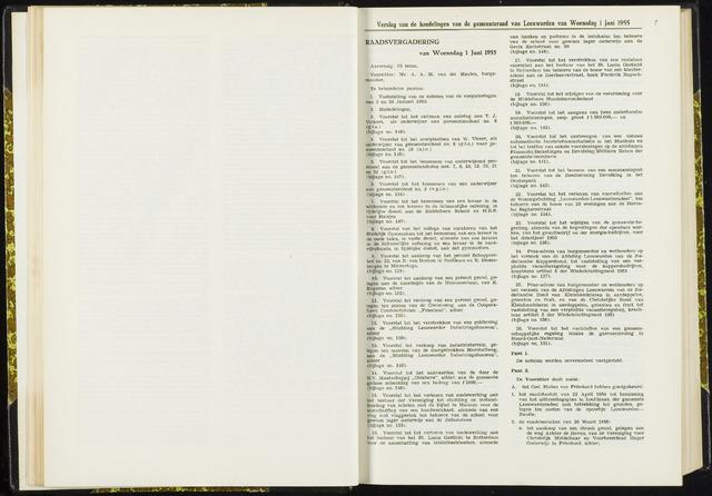 Raadsverslagen van de gemeente Leeuwarden, 1865-2007 (Notulen) 1955-06-01