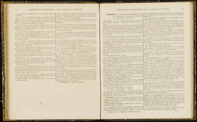 Raadsverslagen van de gemeente Leeuwarden, 1865-2007 (Notulen) 1868-07-09