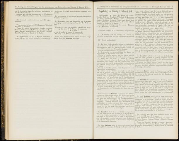 Raadsverslagen van de gemeente Leeuwarden, 1865-2007 (Notulen) 1910-02-08