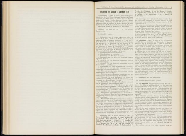 Raadsverslagen van de gemeente Leeuwarden, 1865-2007 (Notulen) 1931-09-01
