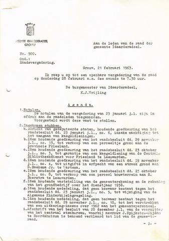 raadsverslagen Idaarderadeel 1935-1983 1963-02-28
