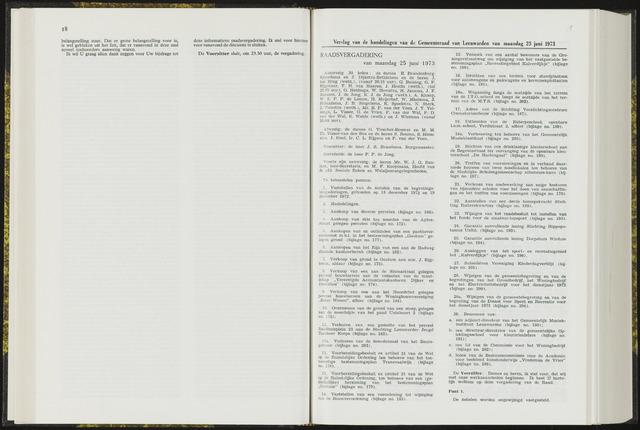 Raadsverslagen van de gemeente Leeuwarden, 1865-2007 (Notulen) 1973-06-25