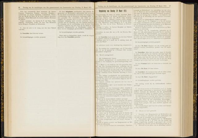 Raadsverslagen van de gemeente Leeuwarden, 1865-2007 (Notulen) 1921-03-29
