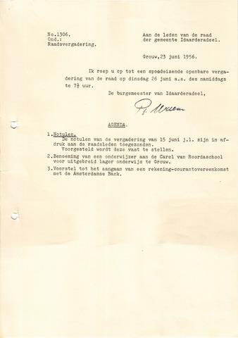 raadsverslagen Idaarderadeel 1935-1983 1956-06-26