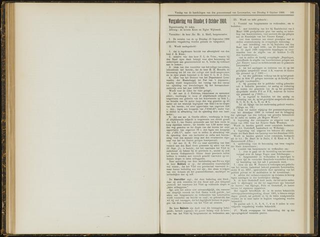 Raadsverslagen van de gemeente Leeuwarden, 1865-2007 (Notulen) 1900-10-09