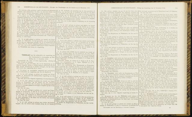 Raadsverslagen van de gemeente Leeuwarden, 1865-2007 (Notulen) 1869-11-11