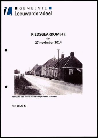 Notulen van de gemeenteraad van Leeuwarderadeel 2014-11-27