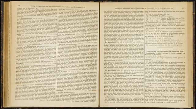 Raadsverslagen van de gemeente Leeuwarden, 1865-2007 (Notulen) 1873-12-18