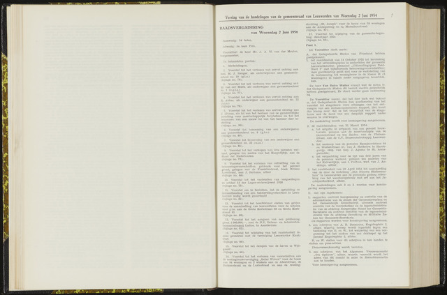 Raadsverslagen van de gemeente Leeuwarden, 1865-2007 (Notulen) 1954-06-02