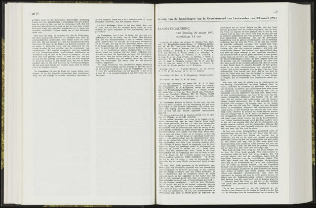 Raadsverslagen van de gemeente Leeuwarden, 1865-2007 (Notulen) 1971-03-30