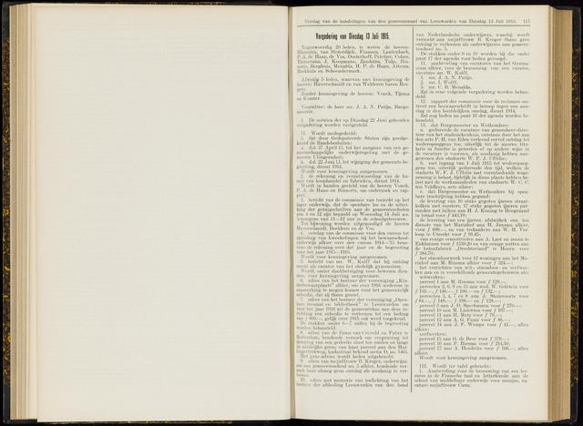Raadsverslagen van de gemeente Leeuwarden, 1865-2007 (Notulen) 1915-07-13