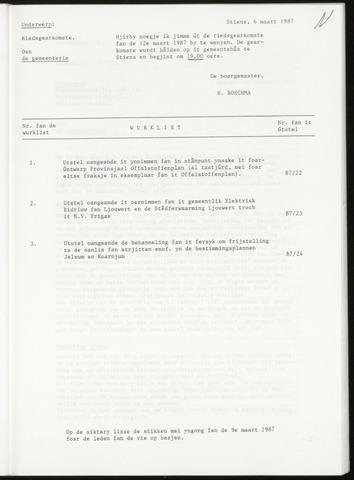 Notulen van de gemeenteraad van Leeuwarderadeel 1987-03-12