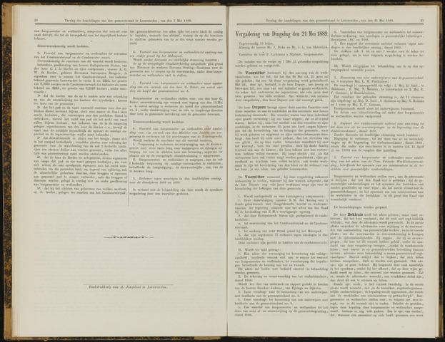 Raadsverslagen van de gemeente Leeuwarden, 1865-2007 (Notulen) 1889-05-21