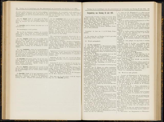 Raadsverslagen van de gemeente Leeuwarden, 1865-2007 (Notulen) 1912-07-23
