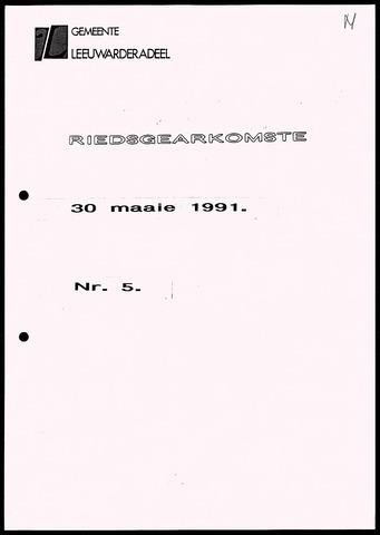 Notulen van de gemeenteraad van Leeuwarderadeel 1991-05-30