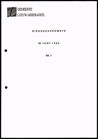 Notulen van de gemeenteraad van Leeuwarderadeel 1995-06-29