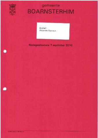 Boarnsterhim vergaderstukken gemeenteraad  2010-09-07