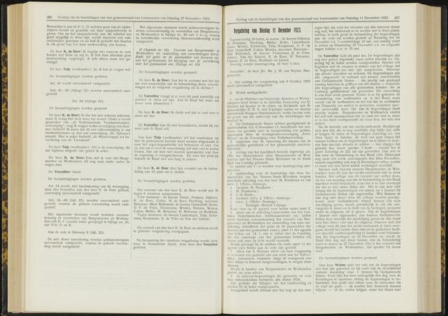 Raadsverslagen van de gemeente Leeuwarden, 1865-2007 (Notulen) 1923-12-11