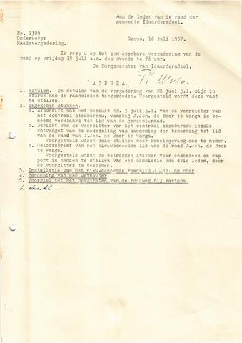 raadsverslagen Idaarderadeel 1935-1983 1957-07-19