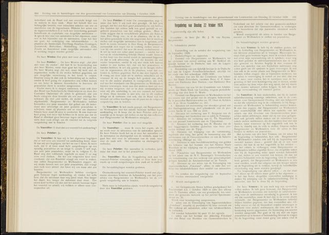 Raadsverslagen van de gemeente Leeuwarden, 1865-2007 (Notulen) 1929-10-22