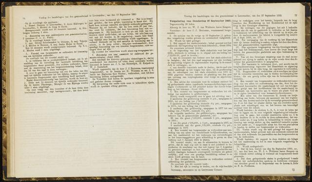 Raadsverslagen van de gemeente Leeuwarden, 1865-2007 (Notulen) 1883-09-27