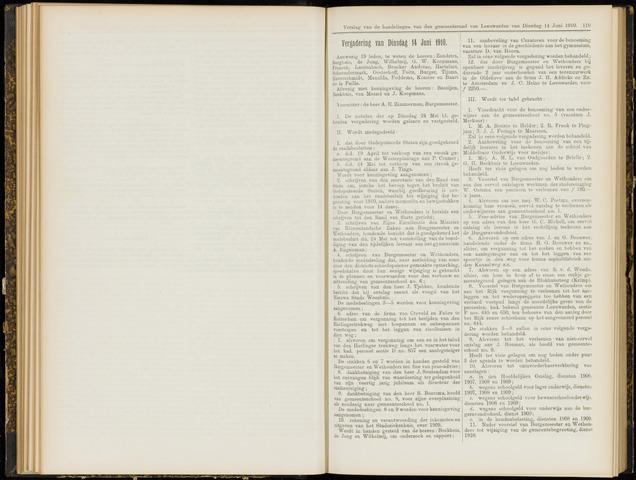 Raadsverslagen van de gemeente Leeuwarden, 1865-2007 (Notulen) 1910-06-14