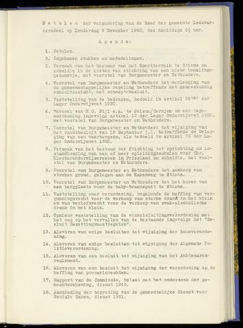 Notulen van de gemeenteraad van Leeuwarderadeel 1950-11-09