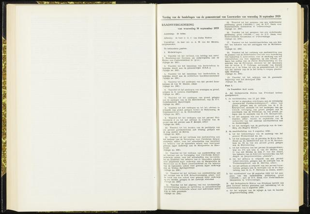 Raadsverslagen van de gemeente Leeuwarden, 1865-2007 (Notulen) 1959-09-16