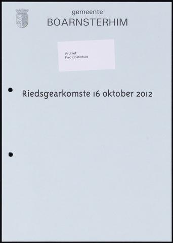 Boarnsterhim vergaderstukken gemeenteraad  2012-10-16