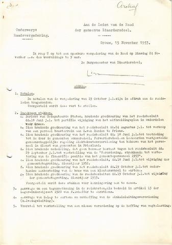 raadsverslagen Idaarderadeel 1935-1983 1953-11-24