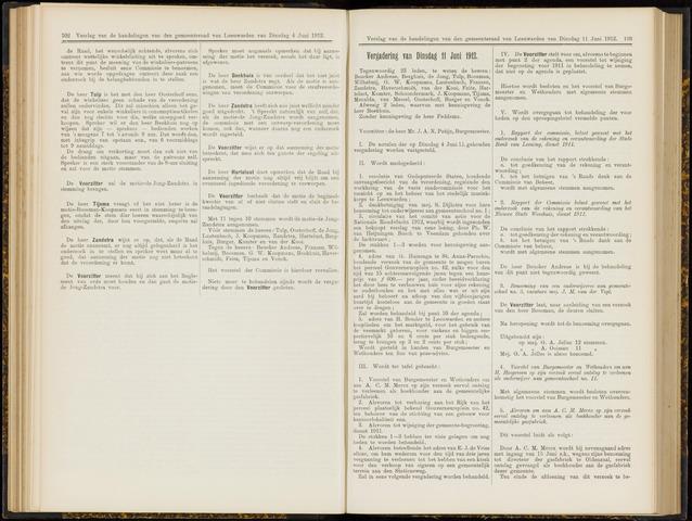 Raadsverslagen van de gemeente Leeuwarden, 1865-2007 (Notulen) 1912-06-11