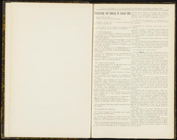Raadsverslagen van de gemeente Leeuwarden, 1865-2007 (Notulen) 1898-01-25