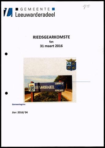 Notulen van de gemeenteraad van Leeuwarderadeel 2016-03-31