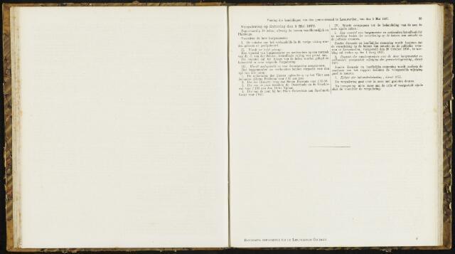 Raadsverslagen van de gemeente Leeuwarden, 1865-2007 (Notulen) 1877-05-05