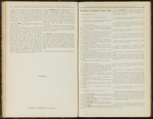 Raadsverslagen van de gemeente Leeuwarden, 1865-2007 (Notulen) 1903-03-24