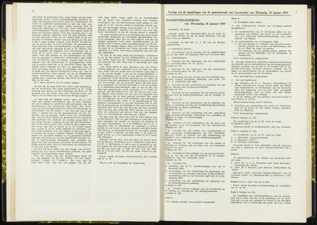 Raadsverslagen van de gemeente Leeuwarden, 1865-2007 (Notulen) 1955-01-26