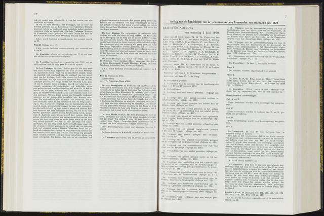 Raadsverslagen van de gemeente Leeuwarden, 1865-2007 (Notulen) 1970-06-01