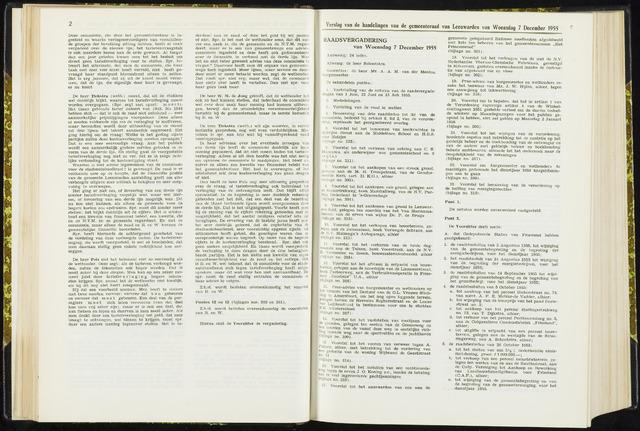Raadsverslagen van de gemeente Leeuwarden, 1865-2007 (Notulen) 1955-12-07