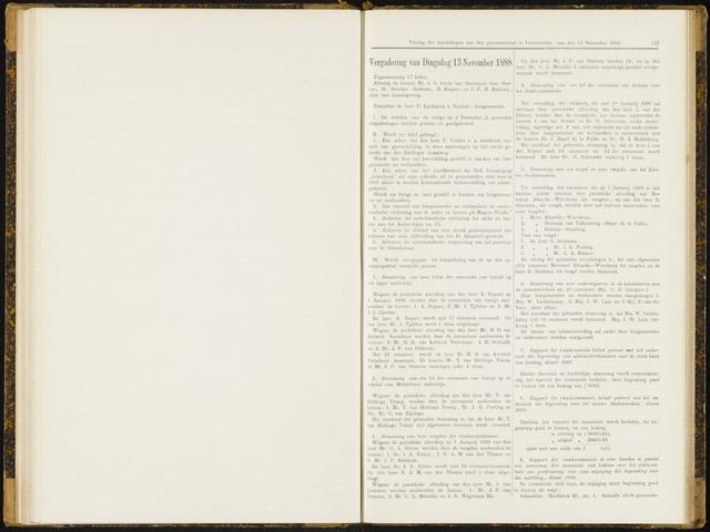 Raadsverslagen van de gemeente Leeuwarden, 1865-2007 (Notulen) 1888-11-13