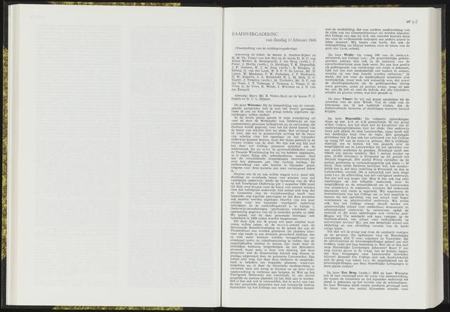 Raadsverslagen van de gemeente Leeuwarden, 1865-2007 (Notulen) 1969-02-11